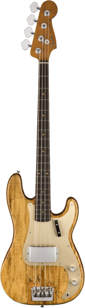 Fender Custom Shop Artisan Spalted Maple P Bass Aged Natural